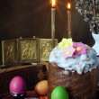 Stock Photo: The traditional christian easter still life