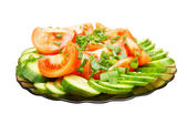 The fresh cut vegetables in salad — Stock Photo