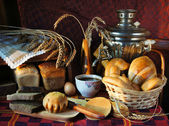 Still life with a variety of bread — Stock Photo