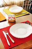 Table set for meal — Stock Photo