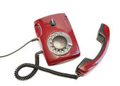Olden red phone — Stock Photo