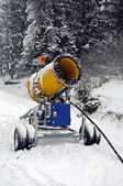 Winter Snow cannon — Stock fotografie