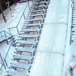 Photo of ski jump stairs — Stock Photo #8406096