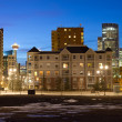 Stock Photo: Calgary Downtown at night, Alberta, Canada
