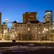 Calgary Downtown at night, Alberta, Canada — Stock Photo