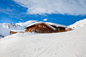 House in snow. Alps, Mayrhofen, Austria — Stock Photo