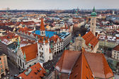 The aerial view of Munich city center — Stock Photo
