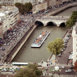 Stock Photo: Tourist cruise boat, Paris, France
