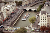 Tourist cruise boat, Paris, France — Stock Photo