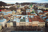 The panoramic view of the city Lviv — Stock Photo