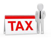 Businessman tax calendar — Stock Photo
