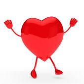 Glossy red valentine heart wave — Stock Photo