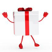Gift box wave — Stock Photo
