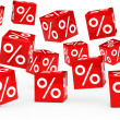 Stock Photo: Red sale percent cubes