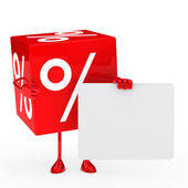 Red sale cube — Stock Photo