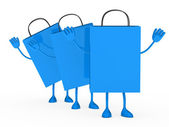 синий продажу процент сумки волна — Стоковое фото
