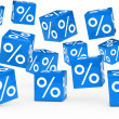 Blue sale percent cubes — Stock Photo #8652355