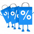 Blue sale percent bags wave — Stock Photo #8777954