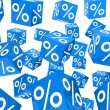 Blue sale percent cubes — Stock Photo #8777961