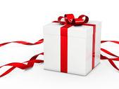 λευκό χριστουγεννιάτικο δώρο — Φωτογραφία Αρχείου