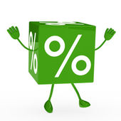 Green sale cube wave — Stock Photo