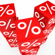 Red sale cubes tower — Stock Photo #8845308