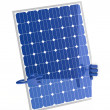 Solar panel figure — Stock Photo