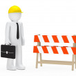 Businessman barrier - Stock Photo