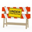 Under construction barrier — Stock Photo