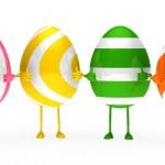 Easter eggs figure — Stock Photo
