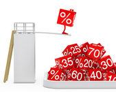 Figura de cubo venta salto — Foto de Stock