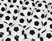 Many footballs — Stock Photo