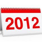 Calender 2012 — Stock Photo