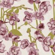 Seamless pattern with orchids — Stock Vector #10229520