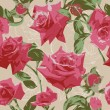 Seamless pattern with pink roses — Stock vektor