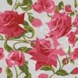 Seamless pattern with pink roses — Vector de stock #10229567