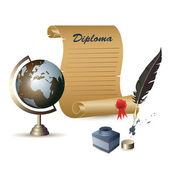 Diploma — Vetorial Stock