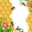Royalty-Free Stock Vector Image: Background with bees