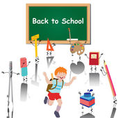 Back to school — Vecteur