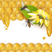 Background with bees — Stockvector
