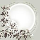Białe róże — Wektor stockowy
