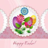 卵と休日のためのイースター カード — ストックベクタ