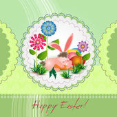 Easter card for the holiday with eggs — Stock Vector