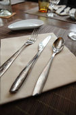 Cutlery on table — Stock Photo