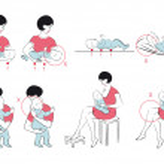 Правила ухода за новорожденным — Stock Vector