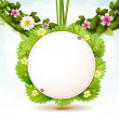 Mirror with leafs — Stock Vector #10649292