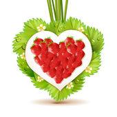 Strawberry heart — Stock Vector