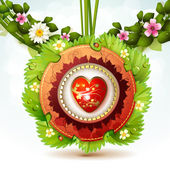 Valentine' s Day card — Vector de stock