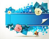Banner design s růží — Stock vektor