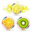Slice of fruits — Stock Vector